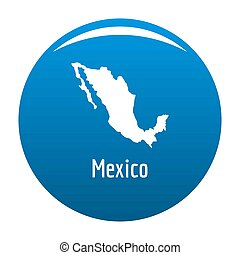 Mexico map in black simple