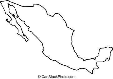 Mexico Infographic Map Vector Illustration Mexico Map With Borders