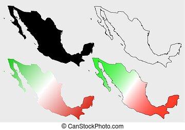 Mexico map vector