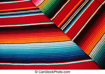 Mexico Mexican traditional cinco de mayo rug poncho fiesta background with stripes