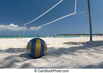 mexico on beach net ball - mexico on beach net and ball