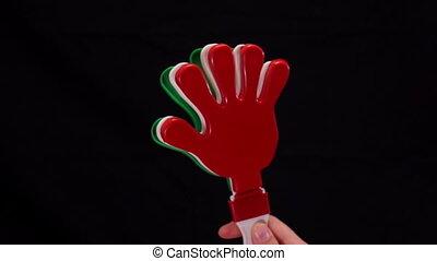 Mexico Party Noise Maker Clapper - Close up shot of a...