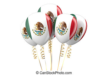 Mexico patriotic balloons, holyday concept