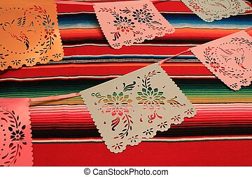 Mexico poncho serape background fiesta cinco de mayo decoration bunting
