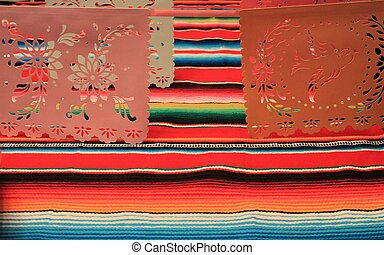 Mexico poncho sombrero skull background fiesta cinco de mayo decoration bunting
