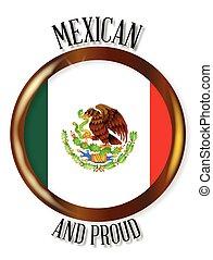 Mexico Proud Flag Button