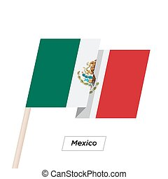 Mexico Ribbon Waving Flag Isolated on White. Vector ...