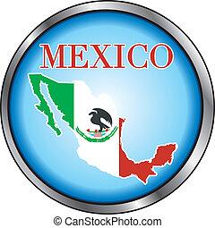Mexico Round Button