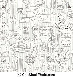 Mexico Seamless Pattern