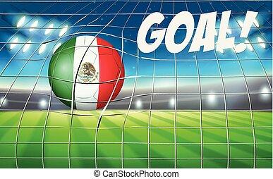 Mexico soccer ball flag