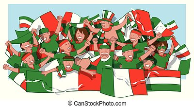 Mexico soccer fans cheering