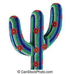 Mexico souvenir - a beaded and colorful mexican cactus...