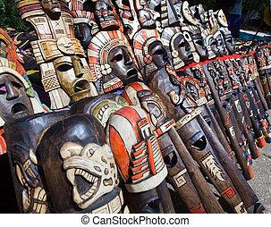 Mexico.  Souvenir bench