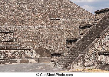 mexico., teotihuacan, pyramids.