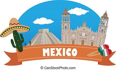 mexico., tourisme, voyage