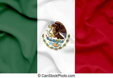 Mexico waving flag