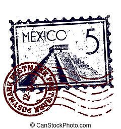 mexikó, elszigetelt, ábra, egyedülálló, vektor, ikon