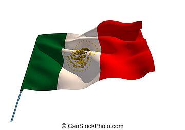 mexikó, nemzeti lobogó