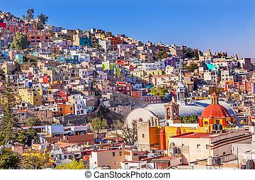 mexikó, szanatórium, épület, ellen-, roque, guanajuato, ...