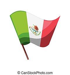 mexikói, white lobogó, háttér