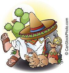 mexikanare, tecknad film, siesta
