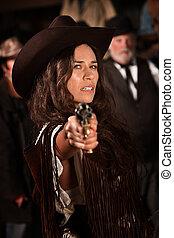 mexikanisch, cowgirl