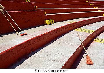 mexikanisch, putzen, stadion, sport