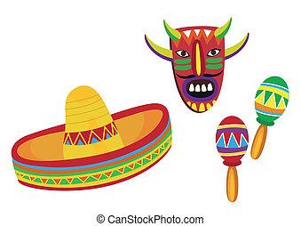 mexikanisch, symbole