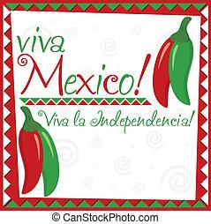 mexikanisch, unabhängigkeit, day!