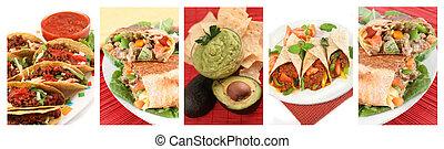 mexikanische nahrung, collage