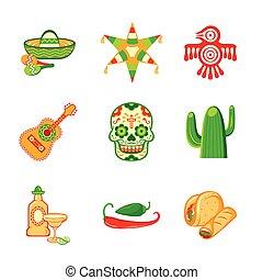 mexikansk, iconerne