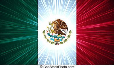 mexikanska flagga, med, dager rocka