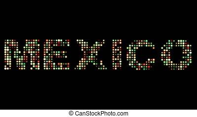 mexiko, leuchtdiode, text