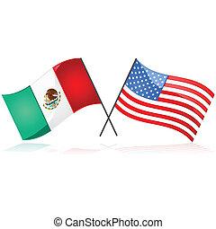 mexiko, und, vereinigten staaten, mexiko, und, vereinigten...
