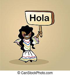mexique, conception, bonjour, gens