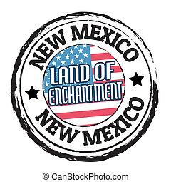 mexique, enchantement, terre, timbre, nouveau