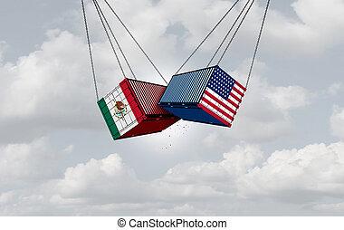 mexique, guerre, usa, commercer