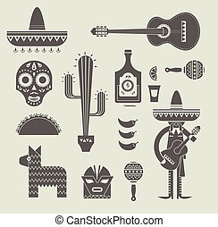 mexique, icônes