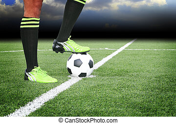 mező, focilabda, stadion
