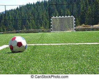 mező, futball, üres