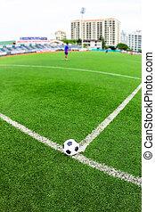 mező, futball, fű, zöld labda