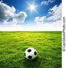 mező, futball, stadion, labdarúgás
