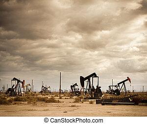 mező, olaj, dezertál
