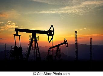 mező, pumpa, olaj, bubi