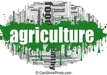 mezőgazdaság, szó, felhő