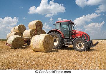 mezőgazdaság, -, traktor