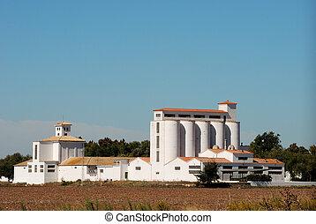 mezőgazdasági, tárolás, épület