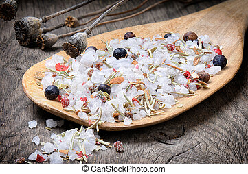 mezcla, sal, mar