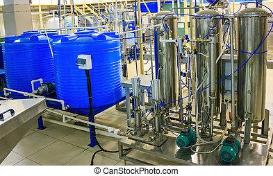 mezcla, tanque, coupage, mixer-carbon