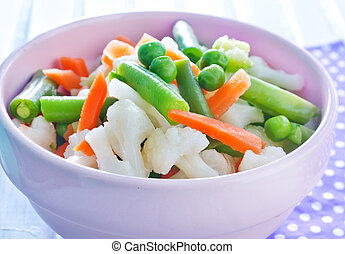 mezcla, vegetales